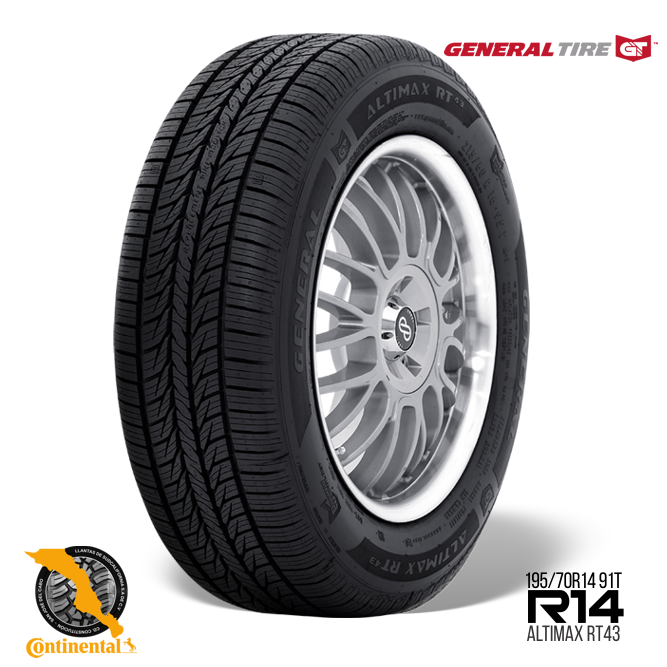 15494920000 1 - General Tire Altimax RT43 195/70 R14